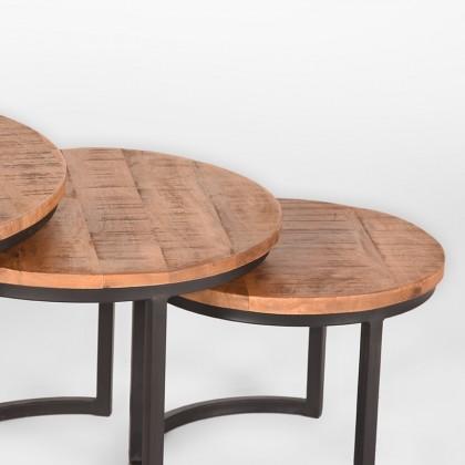 LABEL51 Salontafel Set Triplet - Rough - Mangohout