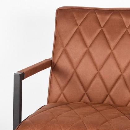 LABEL51 Fauteuil Denmark - Cognac - Microfiber