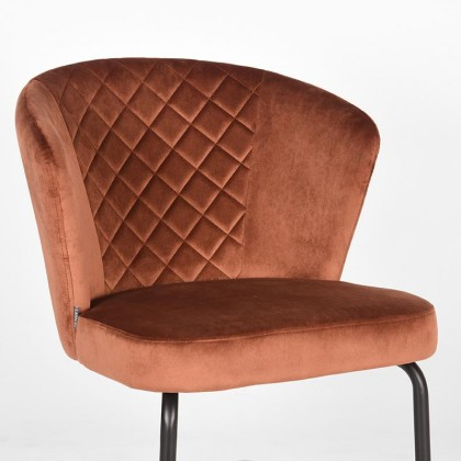 LABEL51 Fauteuil Flow - Rust - Fluweel