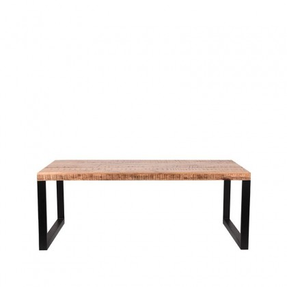 LABEL51 Eetkamertafel Glasgow - Rough - Mangohout - 200x90 cm