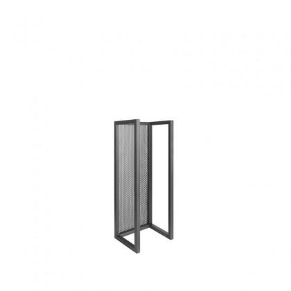LABEL51 Wanddecoratie Haardhout Rek - Zwart - Metaal - M