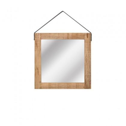 LABEL51 Spiegel - Naturel - Mangohout - 60x60 cm
