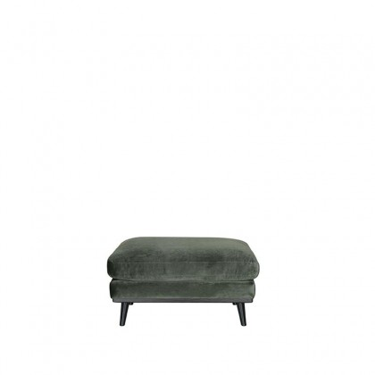 LABEL51 Hocker Siena - Army green - Fluweel