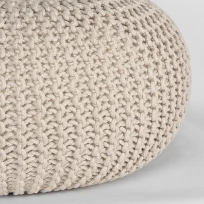 LABEL51 Poef Knitted - Naturel - Katoen - L