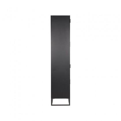 LABEL51 Vitrinekast Level - Zwart - Metaal - 80x40x190 cm