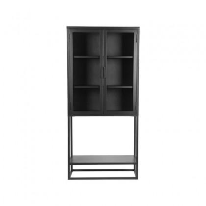 LABEL51 Vitrinekast Level - Zwart - Metaal - 70x35x150 cm