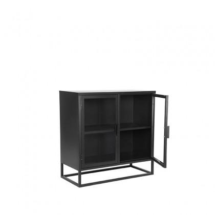 LABEL51 Vitrinekast Level - Zwart - Metaal - 85x40x85 cm