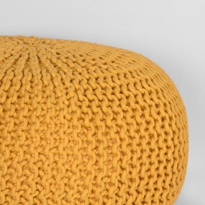 LABEL51 Poef Knitted - Oker - Katoen - L