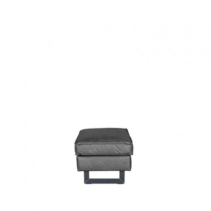 LABEL51 Hocker Arezzo - Antraciet - Microfiber