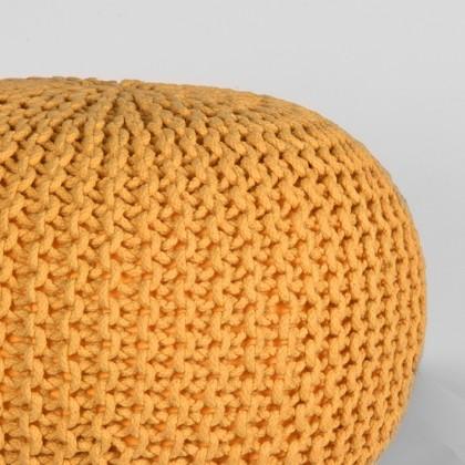 LABEL51 Poef Knitted - Oker - Katoen - M
