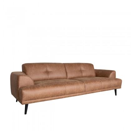 LABEL51 Bank Salerno - Cognac - Microfiber - 3-Zits