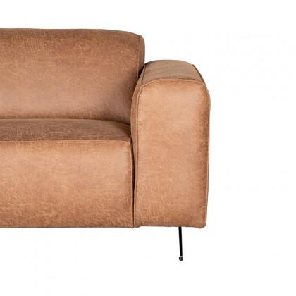 LABEL51 Bank Modena - Cognac - Microfiber - 3-Zits