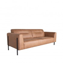 LABEL51 Bank Napoli - Cognac - Microfiber - 3-Zits