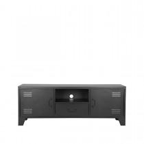 LABEL51 Tv-meubel Fence - Zwart - Metaal