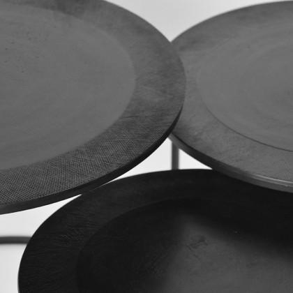 LABEL51 Salontafel Tres - Zwart - Metaal