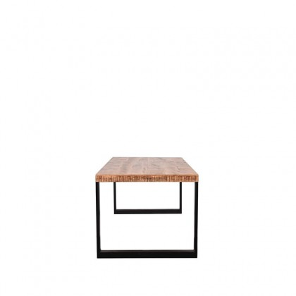 LABEL51 Eetkamertafel Glasgow - Rough - Mangohout - 220x95 cm