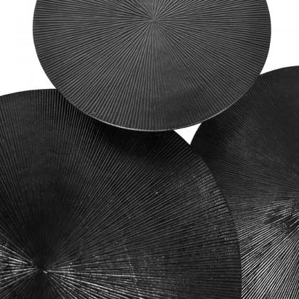 LABEL51 Salontafel Set Nobby - Zwart - Metaal - 60 cm