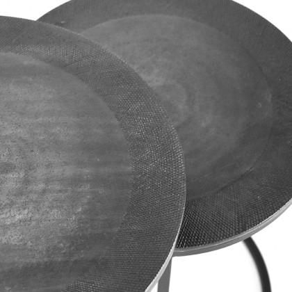 LABEL51 Salontafel Set Pair - Grijs - Metaal - 40 cm