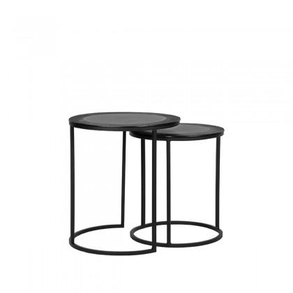 LABEL51 Salontafel Set Pair - Zwart - Metaal - 40 cm