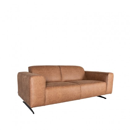 LABEL51 Bank Modena - Cognac - Microfiber - 2-Zits