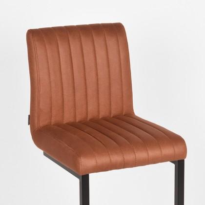 LABEL51 Barkruk Milo - Cognac - Microfiber