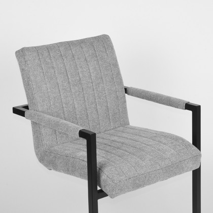 LABEL51 Eetkamerstoel Milo - Zinc - Weave