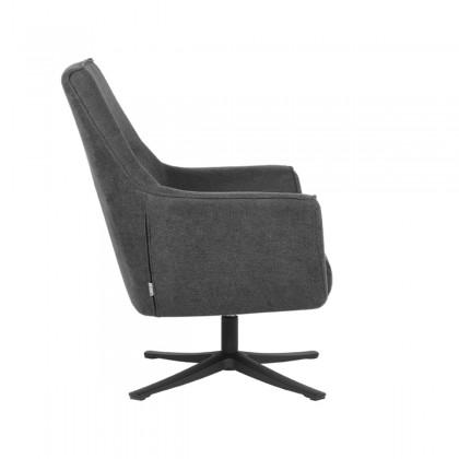 LABEL51 Fauteuil Tod - Antraciet - Weave