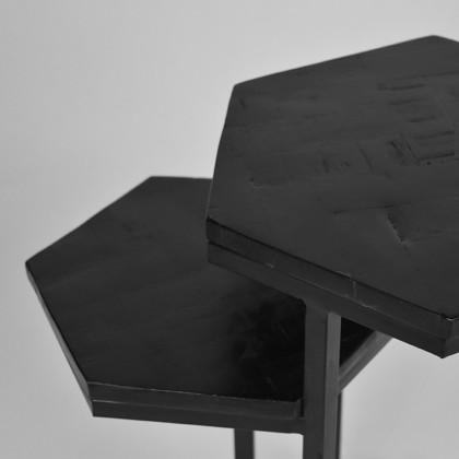 LABEL51 Bijzettafel Multi - Zwart - Mangohout