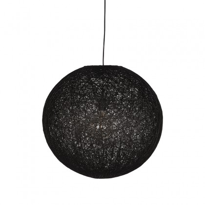 LABEL51 Hanglamp Twist - Zwart - Vlas - L