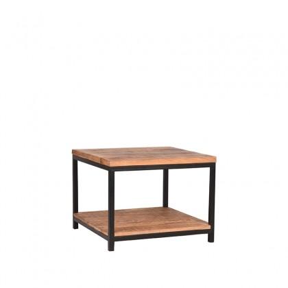 LABEL51 Bijzettafel Vintage - Rough - Mangohout - 60x60 cm