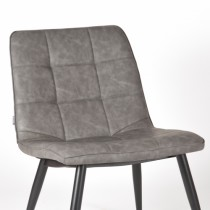 LABEL51 Fauteuil James - Grijs - PU-Leder