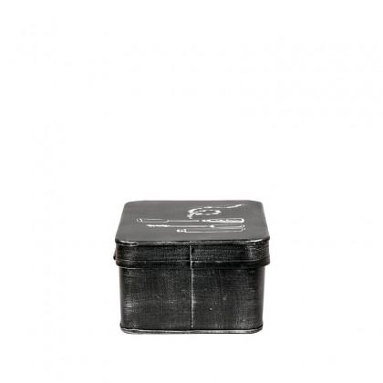 LABEL51 Opbergblik Make-Up opbergkist - Zwart - Metaal