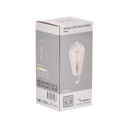 LABEL51 Lichtbron Led Kooldraadlamp Peer - Glas