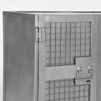 LABEL51 Bergkast Gate - Burned Steel - Metaal - 2 Deurs