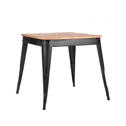LABEL51 Eetkamertafel Liege - Zwart - Metaal - 75x75 cm