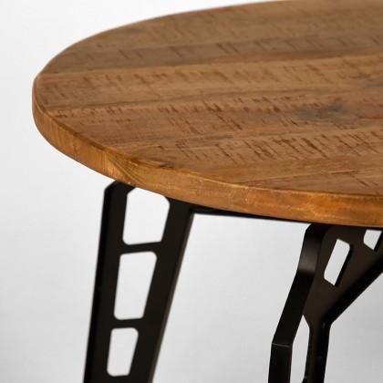 LABEL51 Salontafel Pebble - Rough - Mangohout - Rond - 80 cm