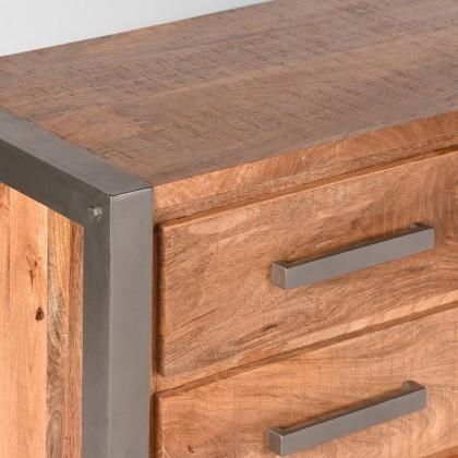 Tv-meubel Factory - Rough - Mangohout - 160 cm