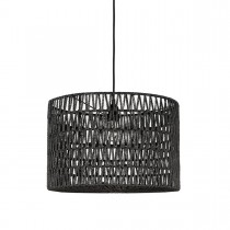 LABEL51 Hanglamp Stripe - Zwart - Katoen