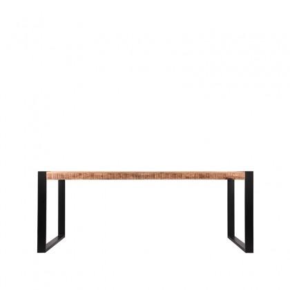 LABEL51 Eetkamertafel Brussels - Rough - Mangohout - 240x100 cm