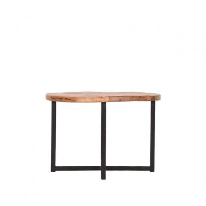 LABEL51 Bijzettafel Dex - Rough - Mangohout - Rond - 60 cm