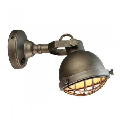 LABEL51 Wandlamp Cas - Grijs - Metaal - L
