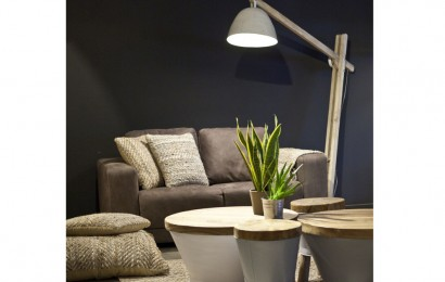 Wood vloerlamp