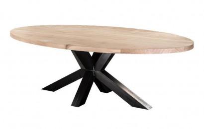 Eiken tafelblad ovaal