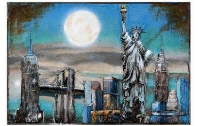 USA Sign New York Skyline